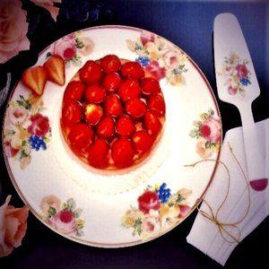 NWOT Mikasa Bone China Rosemead Cake Plate, Server